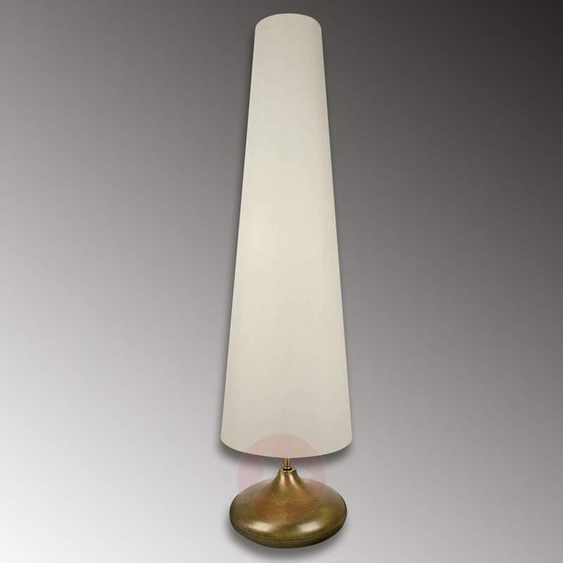 Light fabric lampshade – floor lamp Sarita