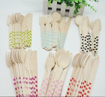 Disposable cutlery - Spoon and fork set