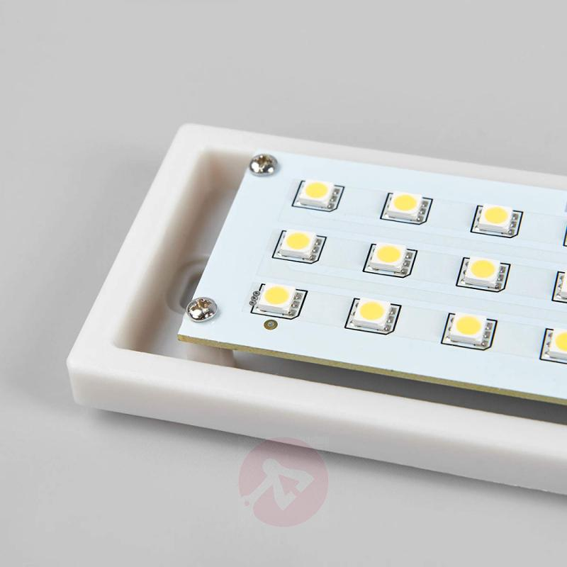 Rectangular Nomaa IP44 LED exterior wall light - stainless-steel-outdoor-wall-lights