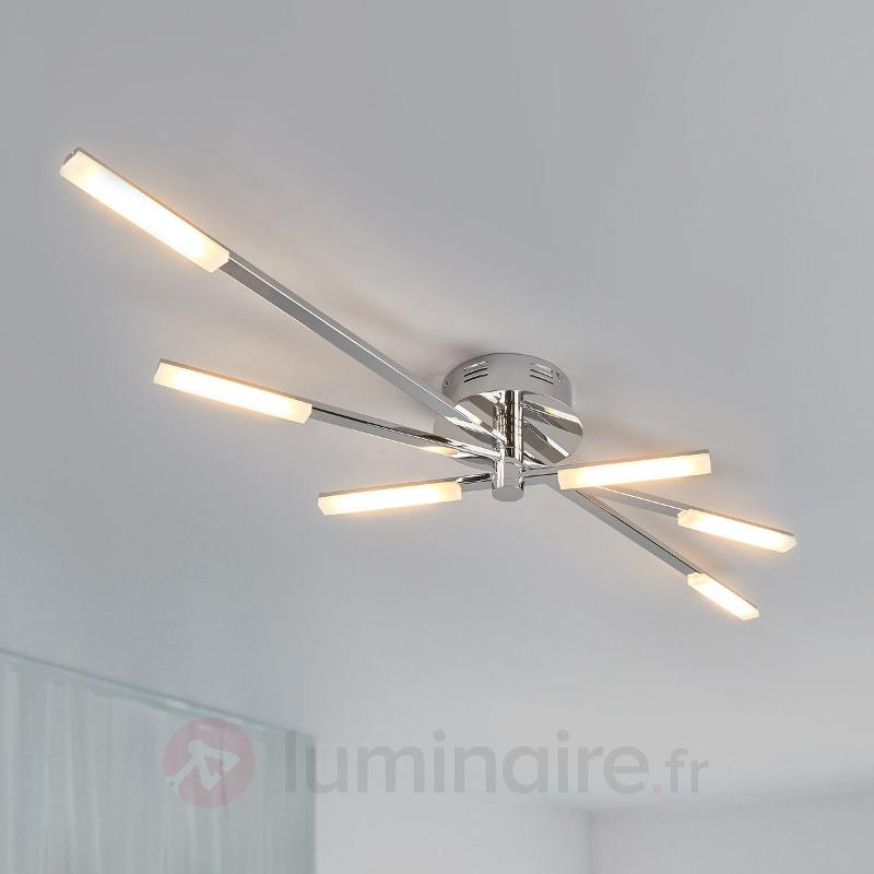 Plafonnier LED chromé brillant Natalia - Plafonniers LED