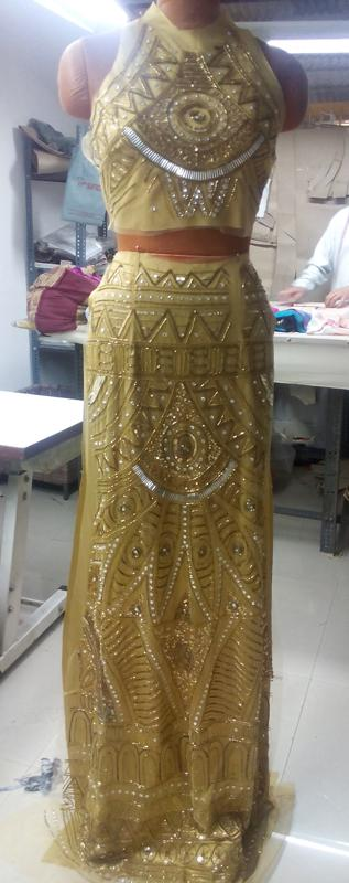 Haute Couture Evening Dress - Hand Embroidered & Embellished - Manufacturer, Exporter, Suppliers - Production Co. in Delhi