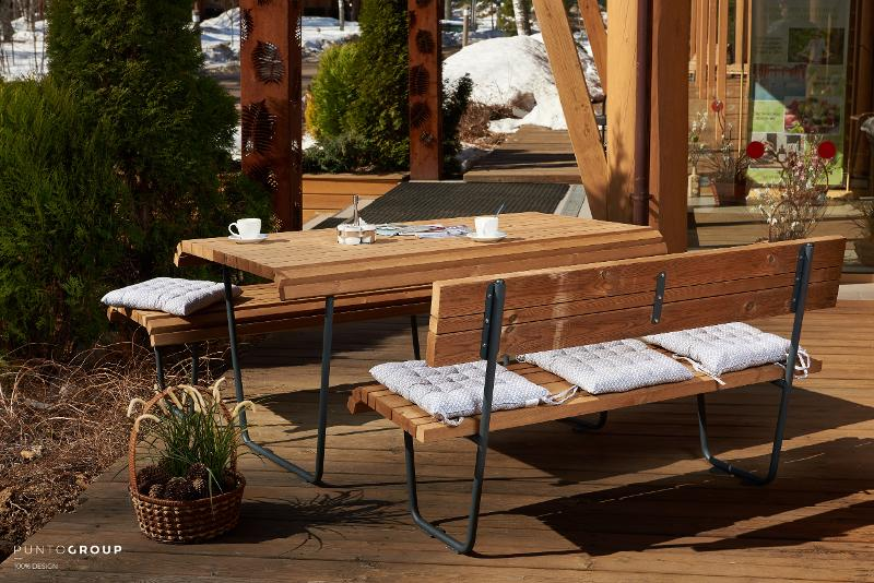 Table «City life» - Benches and sun loungers