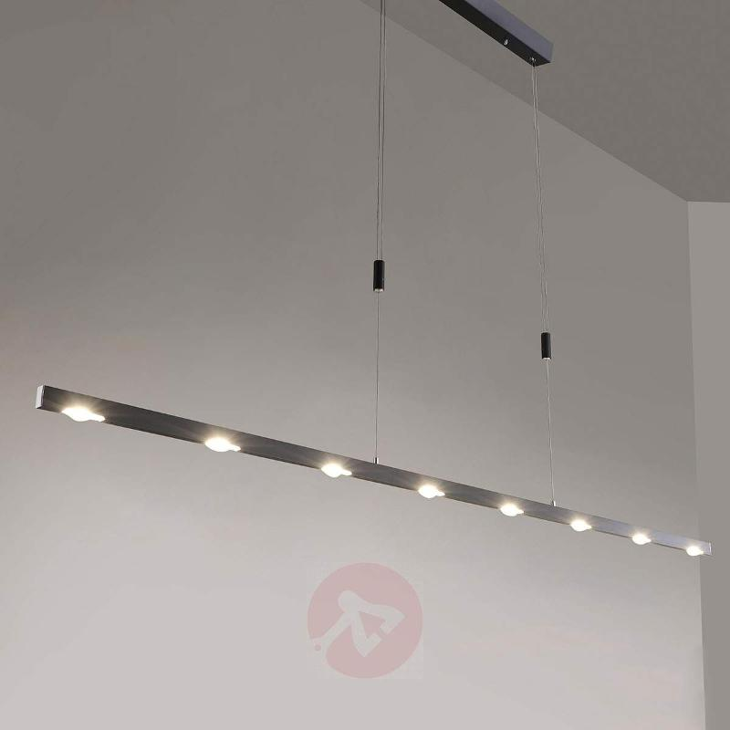 Modern Sina LED pendant light, anthracite - Pendant Lighting