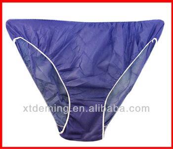 Disposable dark blue underwear brief