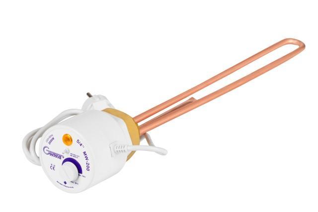 """Elektriskais tens ar termostatu GWARANT - GWARANT sildelements ar termostatu 230V 5/4"""" 6/4"""" 1"""""""