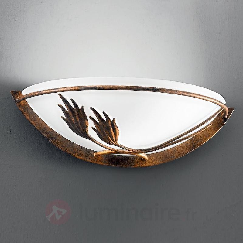 Applique AROSA au style rustique, verre satiné - Appliques rustiques