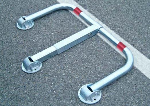 Parking barrier ECONOMY with cylinder lock - 960 x 450 mm - SIPABTECO48
