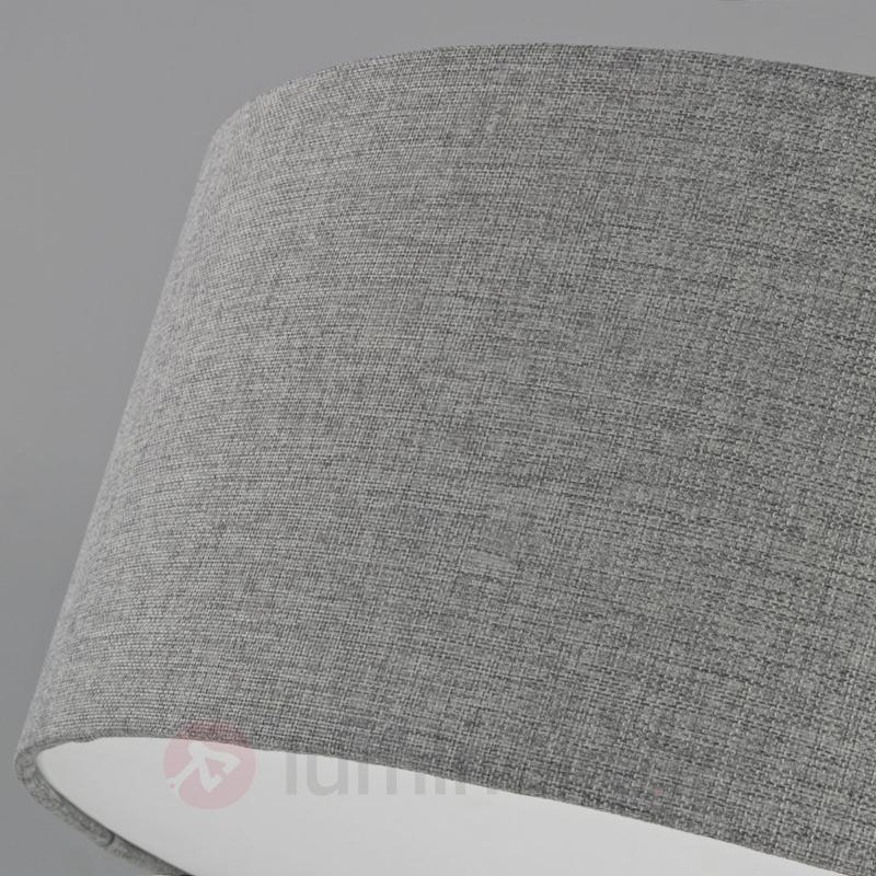 Plafonnier en tissu argenté Pitta aspect toile - Plafonniers en tissu