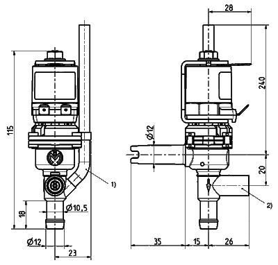 Dispense valve, DN 8 - 46.008.111
