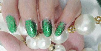 Cosmetics - Glitter Shiny Green Nail Polish