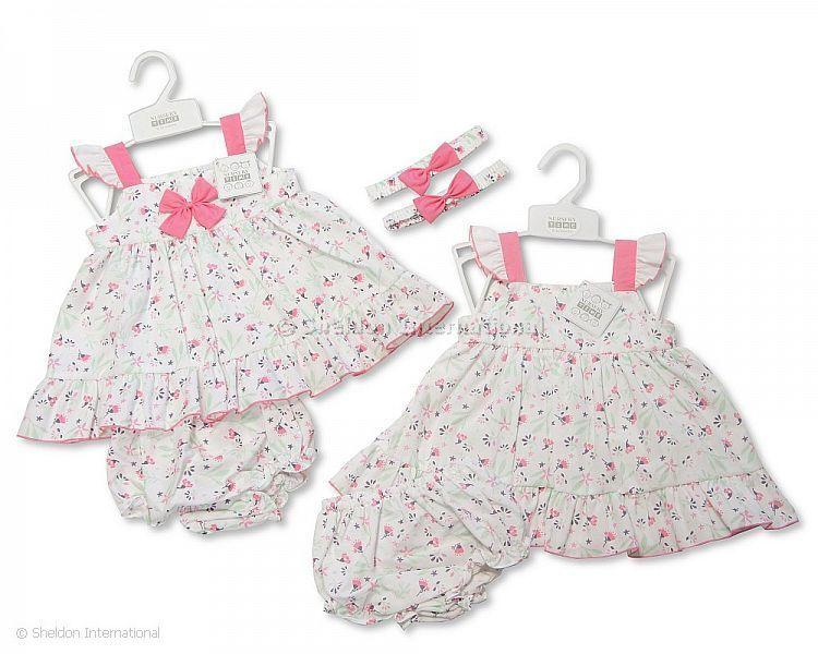 Baby Dress 9-23 Months - Floral Print - Baby Dresses