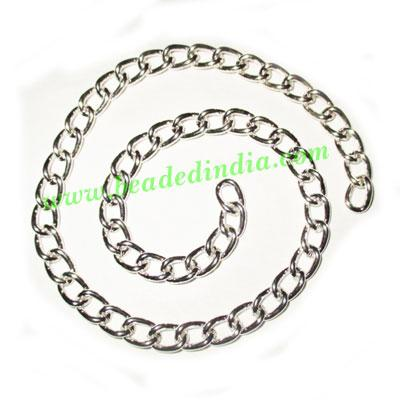 Silver Plated Metal Chain, size: 1x6mm, approx 16.3 meters i - Silver Plated Metal Chain, size: 1x6mm, approx 16.3 meters in a Kg.