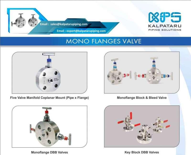Nickel Monoflange Valves - Nickel 200 Monoflange Valves - Nickel 201 Monoflange Valves