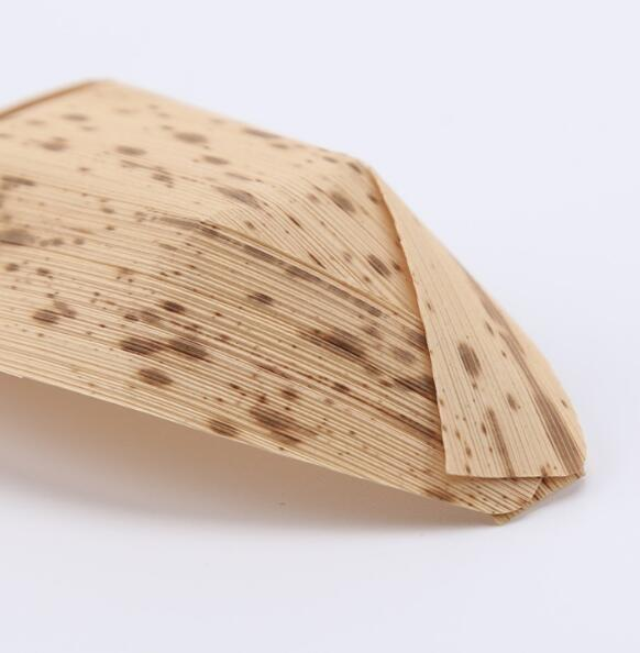Bamboo food container - Disposable eco-friendly bamboo skin boat for food