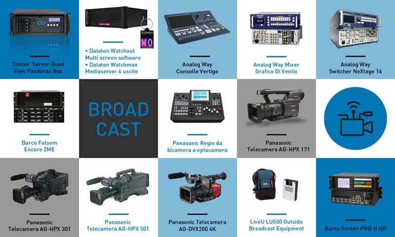 BROADCAST - Trade fairs, Conventions, Television, Concerts, Fashion and Sportive Events