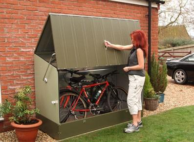 Abri pour vélos et cyclos en métal - Vert