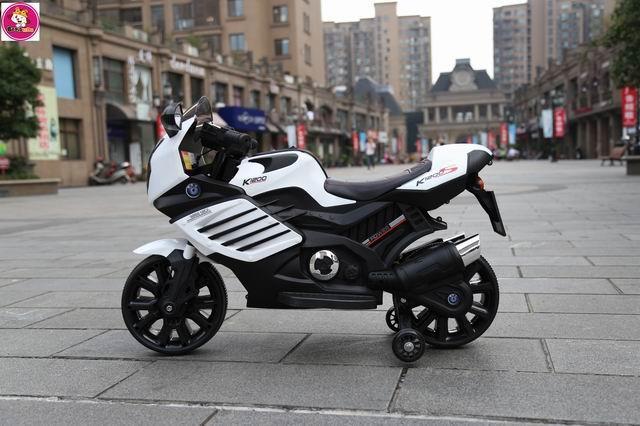 Best Ride on Cars White Motorbike - BK6617080019