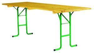 Table Bois Pliante Tubulaire 2.20 X 80 Cm - Tables Et Bancs Brasserie