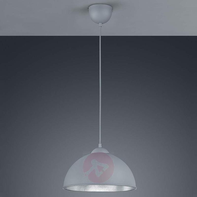 Jimmy metal hanging light in grey-silver - Pendant Lighting