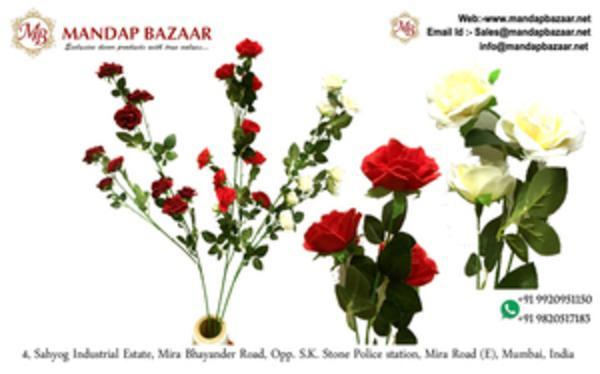 Graceful Flower Bunches - Rose Flower Sticks