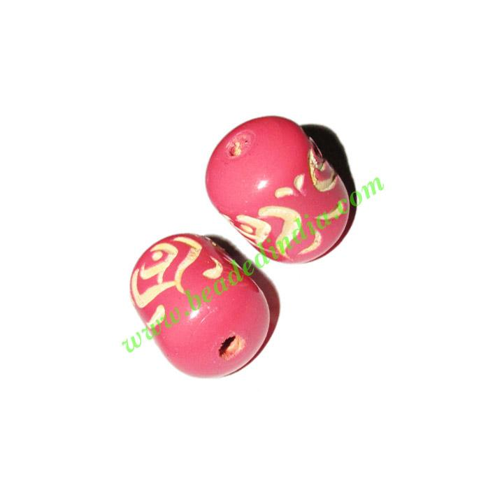 Wooden Carved Beads, size 16x22mm, weight approx 2.65 grams - Wooden Carved Beads, size 16x22mm, weight approx 2.65 grams