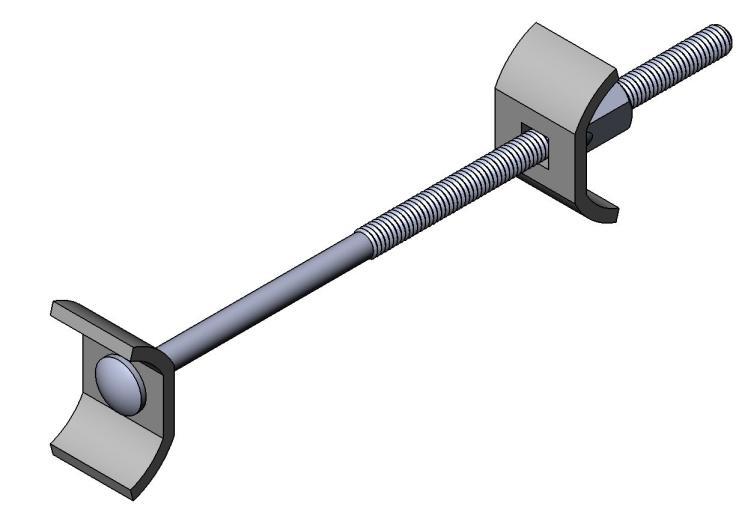 Arbeitsplattenverbinder M6 - Stahl - gerade Platte-hell verz - Arbeitsplattenverbinder