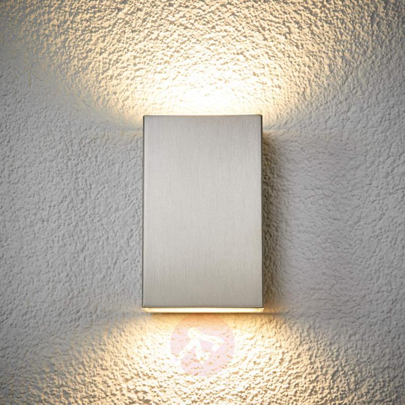 Puristic LED wall lamp Jana for outdoors - IP54 - stainless-steel-outdoor-wall-lights