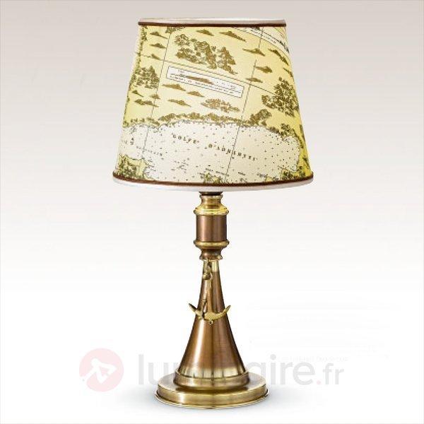Lampe à poser maritime Laguna - Lampes à poser en tissu