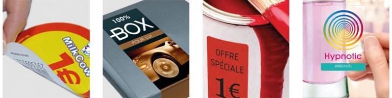 Etiquettes personnalisées multi-usages et synthétiques - Stickers personnalisé et étiquettes