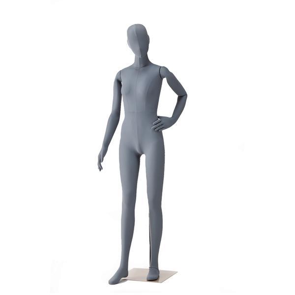 Female Flexible Mannequin - Grey - Black - Cream versions available