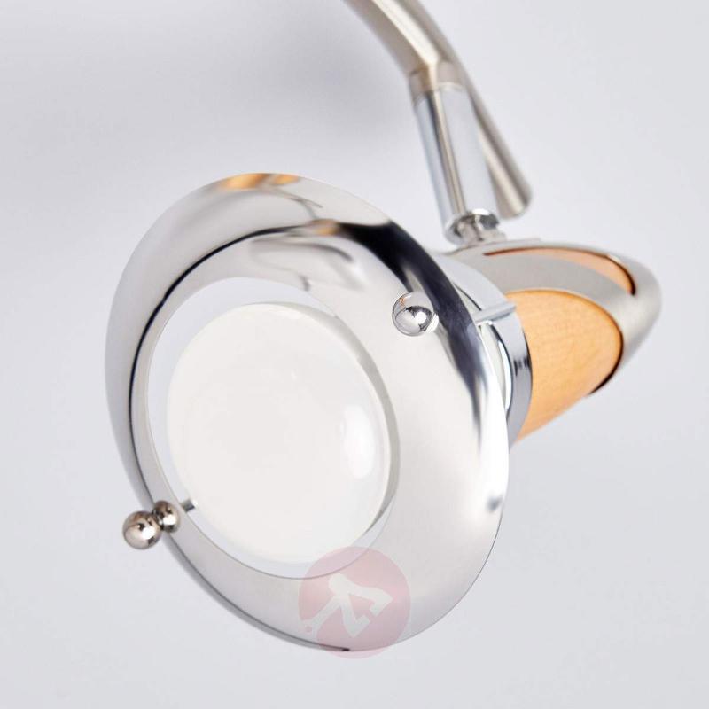 E14-R50 LED spotlight Sharleen, wooden finish - Ceiling Lights