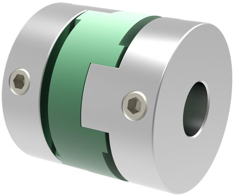 Miniature Oldham type coupling MOH - Miniature Oldham type coupling MOH - low-cost version with set screws