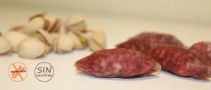 Snack de fuet con pistachos
