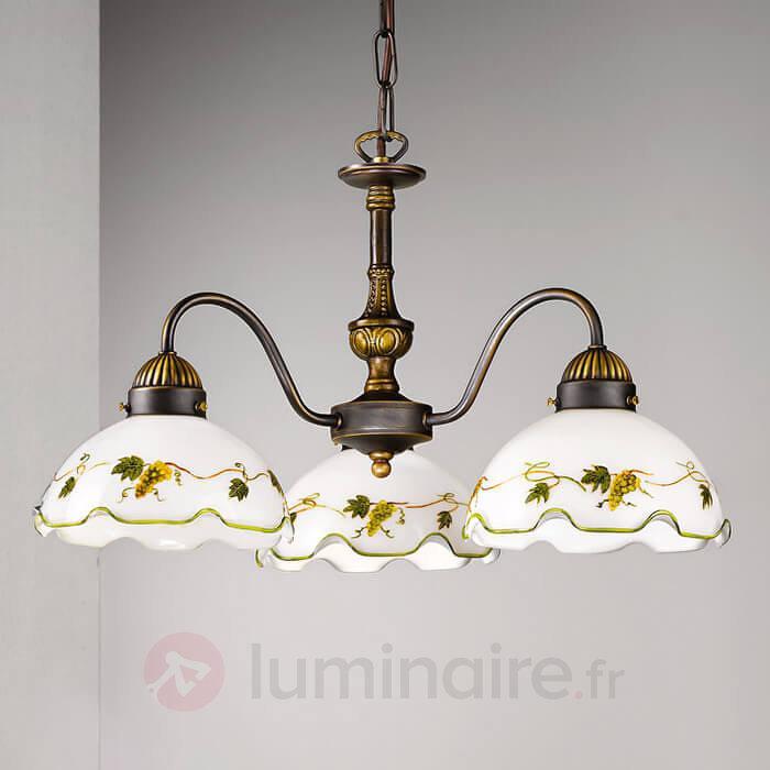 Suspension à 3 lampes NONNA raisins - Suspensions rustiques