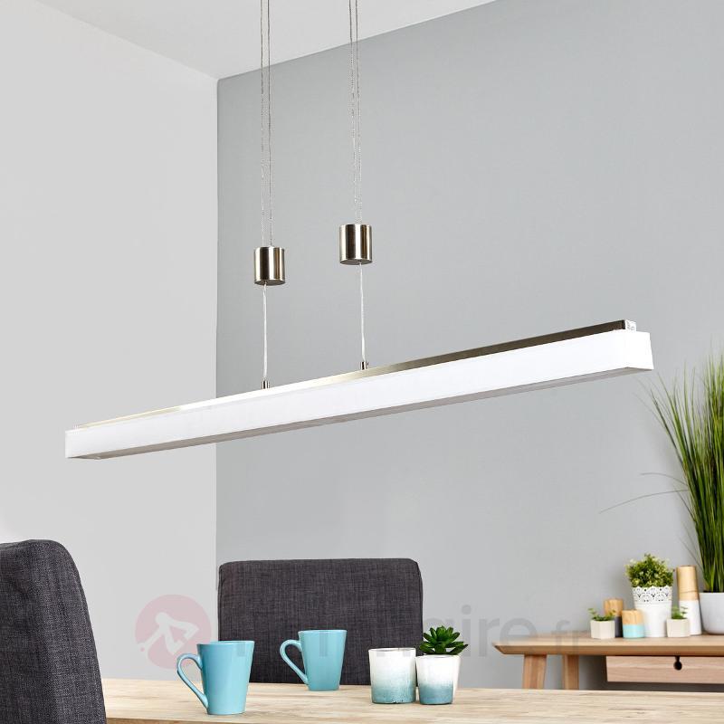 Suspension longue LED Taynara - Suspensions en tissu