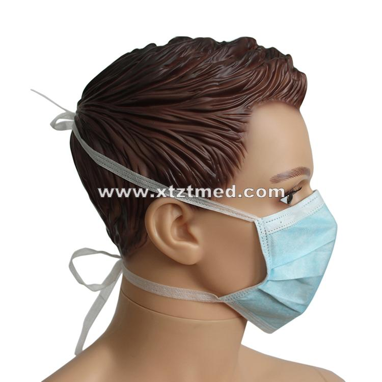 3-Ply Face Mask With Ties -