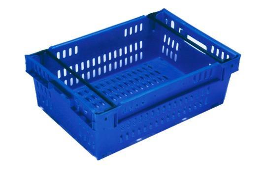 Caixas de plástico empilháveis e encaixáveis - empilháveis sobre arcos posicionáveis, 35L (fechada e/ou gradeada)