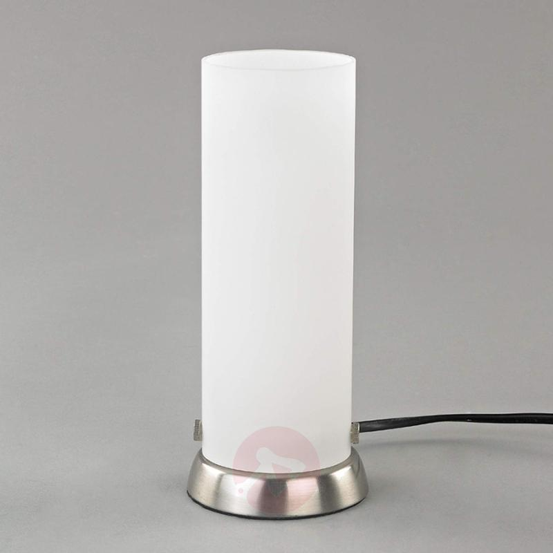 Cylindrical LED table lamp Andrew, made of glass - indoor-lighting