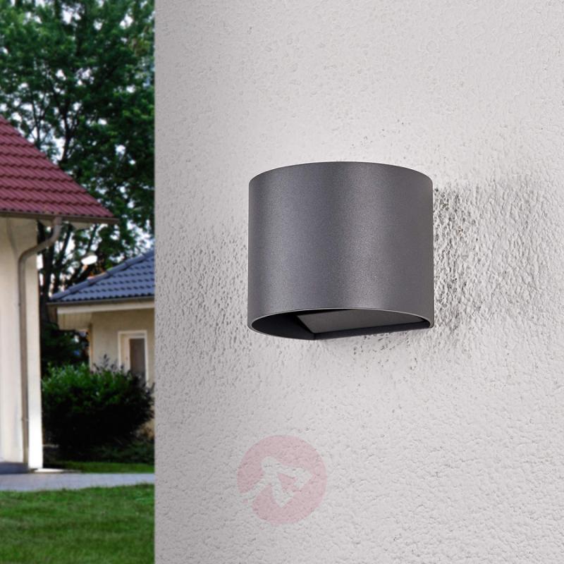 Semi-circular Ella LED outdoor wall light - outdoor-led-lights