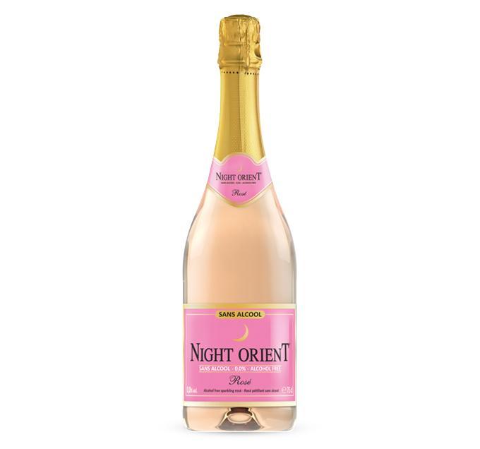 Night Orient Rosé - vin pétillant rosé sans alcool