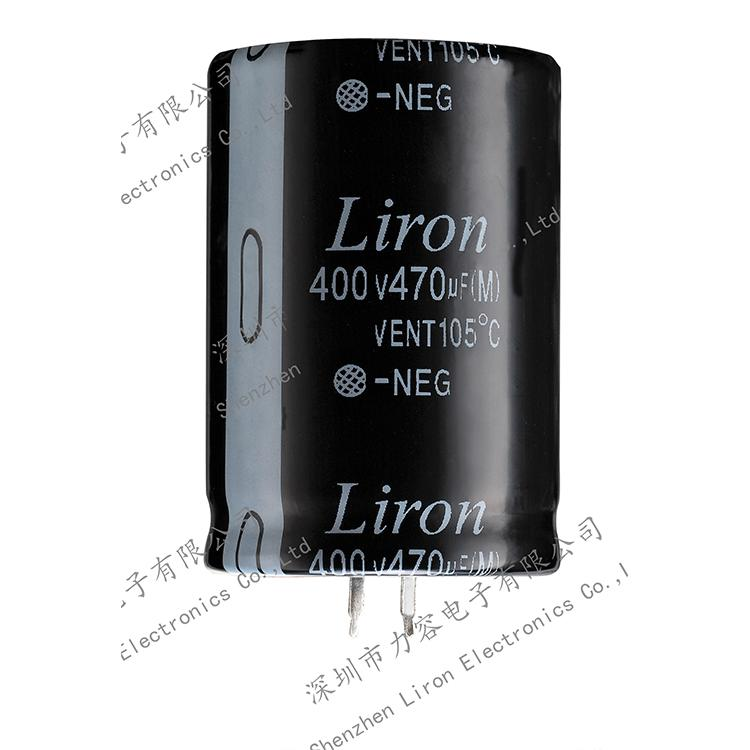 Liron LKH snap in aluminum electrolytic capacitor, high operating temperature - SNAP IN CAPACITOR