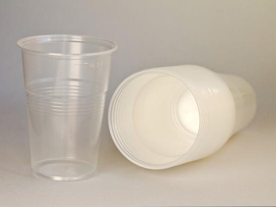 Пластиковый одноразовый стакан  200 мл,  - 100 шт/уп, прозрачный