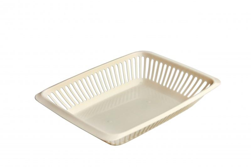 Plastic Pastry Basket Perforated 290x220x56mm - null