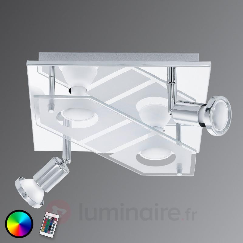Plafonnier LED RGBW carré Cabo-C - Plafonniers LED