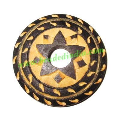 Handmade wooden fancy pendants, size : 40x7mm - Handmade wooden fancy pendants, size : 40x7mm