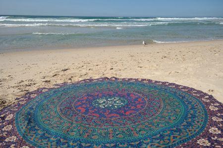 Wall Hanging Beach Throw Yoga Mat Boho Decor Round