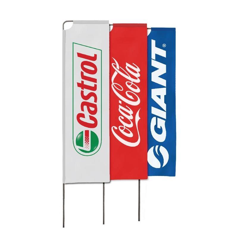 Le beach flag rectangle - Drapeaux publicitaires et oriflamme