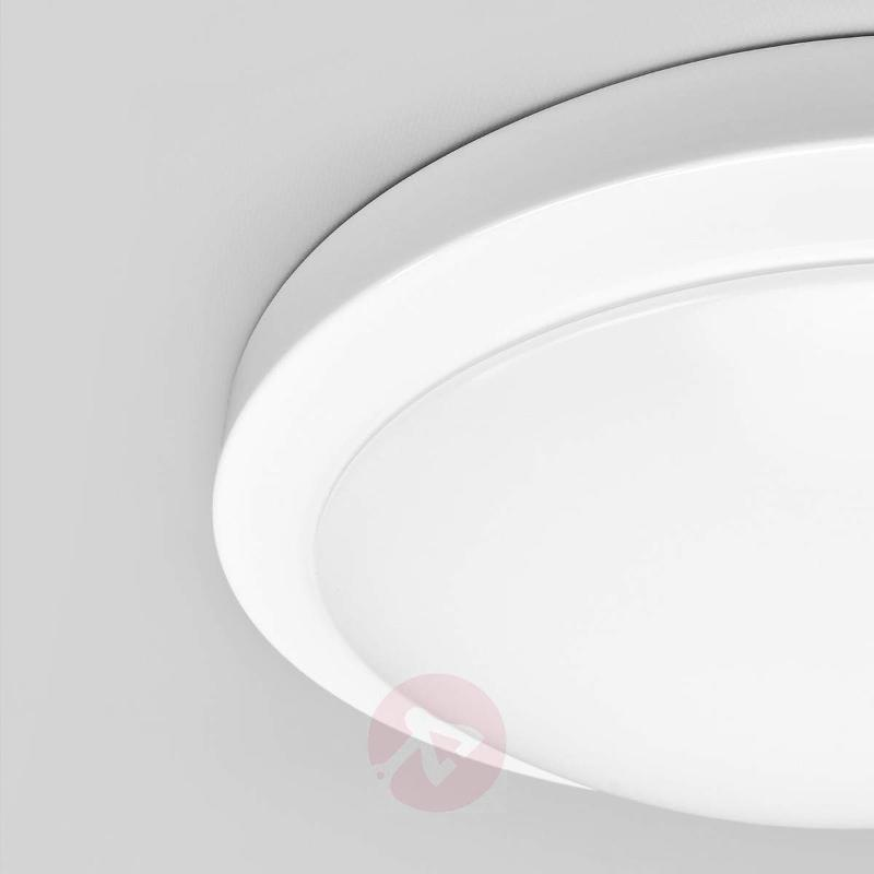 Large, white Aras bathroom ceiling light with LEDs - Ceiling Lights
