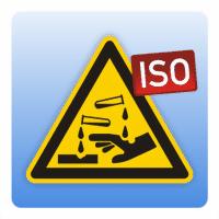 Warnung vor ätzenden Stoffen - Seitenlänge: 50 mm 100 mm 200 mm 300 mm 50 mm
