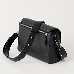 Genuine leather women's bag  - CROSS-BODY BAG WITH A FANCY FLAP